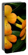 Orange Rhododendron Flowers Portable Battery Charger