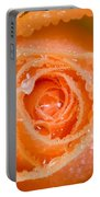 Orange Rose With Dew Portable Battery Charger