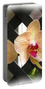 Orange Striped Orchids Portable Battery Charger