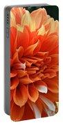 Orange Vanilla Dahlia Portable Battery Charger