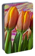 Orange Yellow Tulips Portable Battery Charger