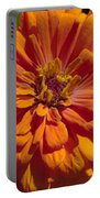 Orange Zinnia Portable Battery Charger