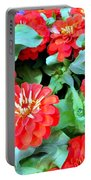 Orange Zinnias Portable Battery Charger