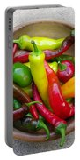 Organic Colorful Peppers Portable Battery Charger