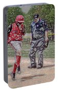 Ouch Baseball Foul Ball Digital Art Portable Battery Charger