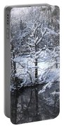 Our Pond In The Snow Portable Battery Charger