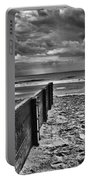 Out To Sea Monochrome Portable Battery Charger