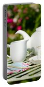 Outdoor Tea Party Portable Battery Charger by Amanda Elwell