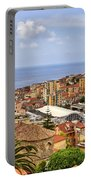Over The Roofs Of Sanremo Portable Battery Charger by Joana Kruse