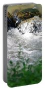 Over The Stones The Water Flows Portable Battery Charger