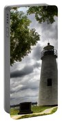 Overcast Clouds At Turkey Point Lighthouse Portable Battery Charger