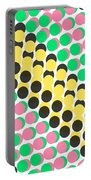Overlayed Dots Portable Battery Charger by Louisa Knight