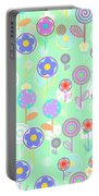 Overlayer Flowers  Portable Battery Charger