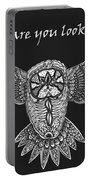 Owl In Flight Portable Battery Charger