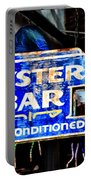 Oyster Bar Sign Portable Battery Charger
