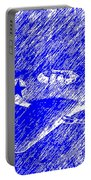 P 51 Mustang Flying In The Rain Portable Battery Charger
