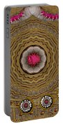 Pagoda Of Lotus Pop Art Portable Battery Charger