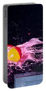 Paintball Shot At Razor Blade Portable Battery Charger