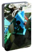 Painted Birdhouses Portable Battery Charger