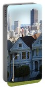 Painted Ladies Portable Battery Charger by Linda Woods