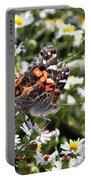 Painted Lady - Surrounded In White Portable Battery Charger