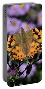 Painted Lady Among The Asters Portable Battery Charger