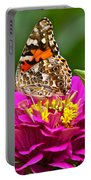 Painted Lady With Zinnia Portable Battery Charger