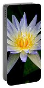 Painted Lily And Pads Portable Battery Charger