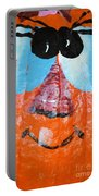 Painted Pumpkin 1 Portable Battery Charger