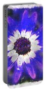 Painted Purple  Portable Battery Charger