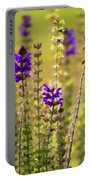 Painted Purple Sage Salvia Portable Battery Charger