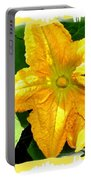 Painted Squash Blossoms Portable Battery Charger