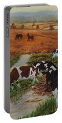 Painting Cows On Cors Caron Tregaron Portable Battery Charger