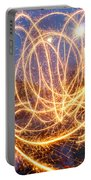 Painting With Sparklers Portable Battery Charger by Gordon Dean II