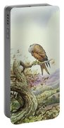 Pair Of Red Kites In An Oak Tree Portable Battery Charger by Carl Donner