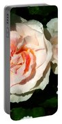 Pale Pink Roses In Garden Portable Battery Charger