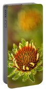 Pale Purple Coneflower Bud Portable Battery Charger