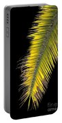 Palm Frond Against Black Portable Battery Charger