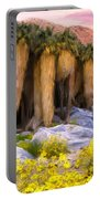 Palm Oasis And Wildflowers Portable Battery Charger