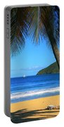 Palm Shaded Island Beach  Portable Battery Charger