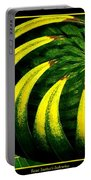 Palm Tree Abstract Portable Battery Charger