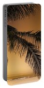 Palm Tree And Sunset In Mexico Portable Battery Charger