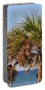 Palm Trees Portable Battery Charger by Sandy Keeton