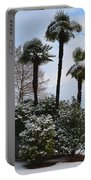 Palm Trees With Snow Portable Battery Charger