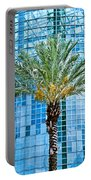 Palme Tree And Blue Building Portable Battery Charger