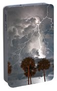 Palms And Lightning  Portable Battery Charger
