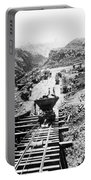 Panama Canal - Construction At The Culebra Cut - C 1910 Portable Battery Charger