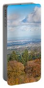 Panorama Of Dublin City And The Dublin Bay Portable Battery Charger