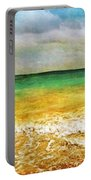 Panoramic Seaside At Tulum Portable Battery Charger by Tammy Wetzel