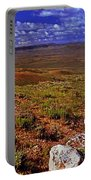 Panoramic View Of Fossil Butte Nm Valley Portable Battery Charger